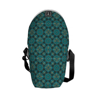 Colorful abstract ethnic floral mandala pattern de commuter bag