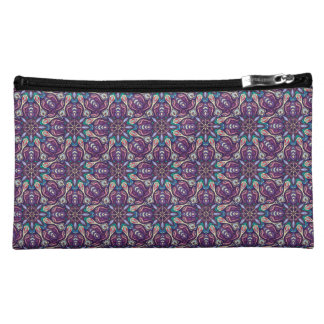 Colorful abstract ethnic floral mandala pattern de cosmetic bag
