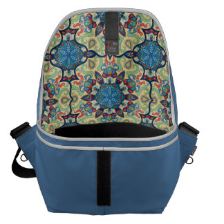 Colorful abstract ethnic floral mandala pattern de courier bags