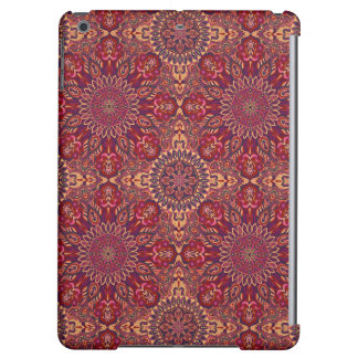 Colorful abstract ethnic floral mandala pattern de cover for iPad air
