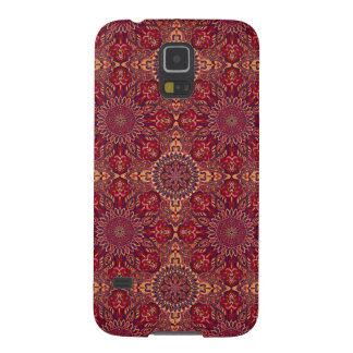 Colorful abstract ethnic floral mandala pattern de galaxy s5 cases