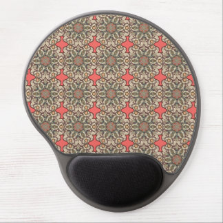 Colorful abstract ethnic floral mandala pattern de gel mouse pad