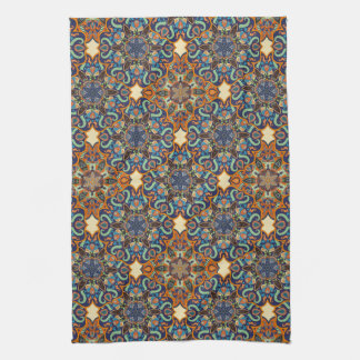 Colorful abstract ethnic floral mandala pattern de hand towel