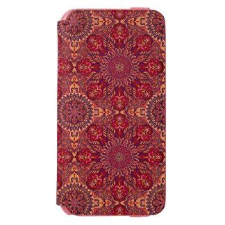 Colorful abstract ethnic floral mandala pattern de incipio watson™ iPhone 6 wallet case