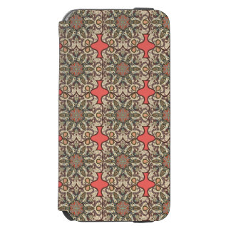Colorful abstract ethnic floral mandala pattern de incipio watson™ iPhone 6 wallet case