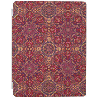 Colorful abstract ethnic floral mandala pattern de iPad cover