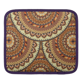 Colorful abstract ethnic floral mandala pattern de iPad sleeve