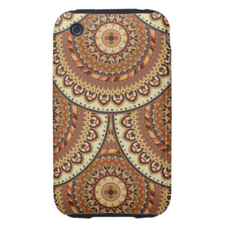 Colorful abstract ethnic floral mandala pattern de iPhone 3 tough case