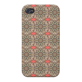 Colorful abstract ethnic floral mandala pattern de iPhone 4/4S cases