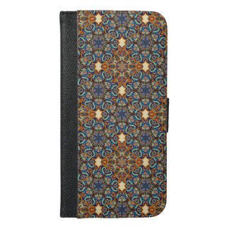 Colorful abstract ethnic floral mandala pattern de iPhone 6/6s plus wallet case