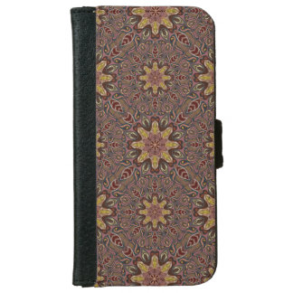 Colorful abstract ethnic floral mandala pattern de iPhone 6 wallet case