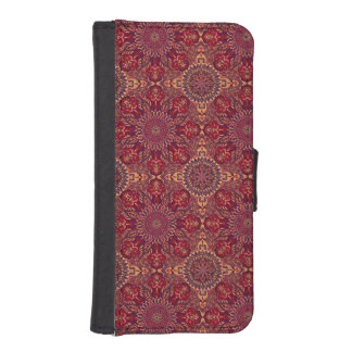Colorful abstract ethnic floral mandala pattern de iPhone SE/5/5s wallet case