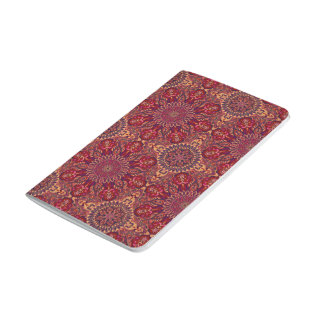 Colorful abstract ethnic floral mandala pattern de journal
