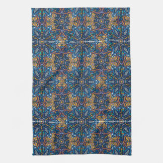 Colorful abstract ethnic floral mandala pattern de kitchen towel