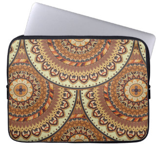 Colorful abstract ethnic floral mandala pattern de laptop sleeve