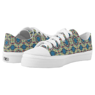 Colorful abstract ethnic floral mandala pattern de Low-Top sneakers