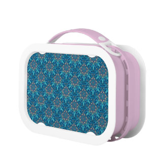 Colorful abstract ethnic floral mandala pattern de lunchboxes