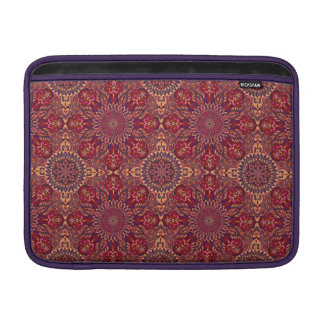 Colorful abstract ethnic floral mandala pattern de MacBook air sleeve