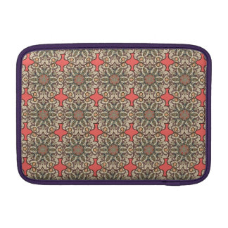 Colorful abstract ethnic floral mandala pattern de MacBook sleeve