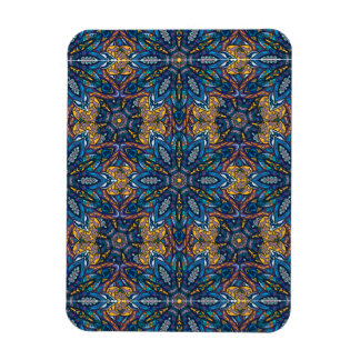 Colorful abstract ethnic floral mandala pattern de magnet