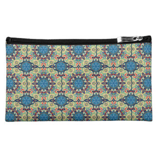 Colorful abstract ethnic floral mandala pattern de makeup bag