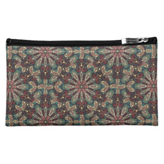 Colorful abstract ethnic floral mandala pattern de makeup bags