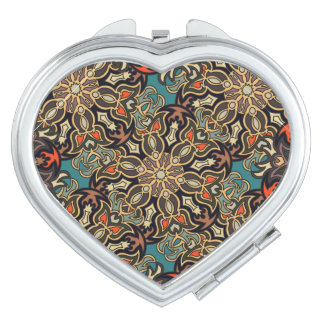 Colorful abstract ethnic floral mandala pattern de makeup mirror