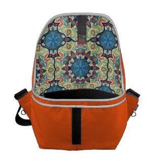 Colorful abstract ethnic floral mandala pattern de messenger bag