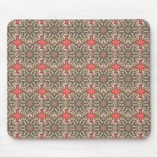 Colorful abstract ethnic floral mandala pattern de mouse pad