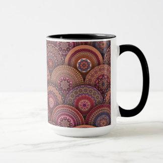 Colorful abstract ethnic floral mandala pattern de mug