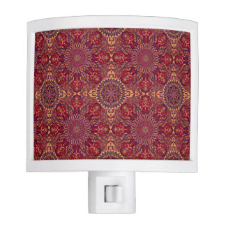 Colorful abstract ethnic floral mandala pattern de night lights
