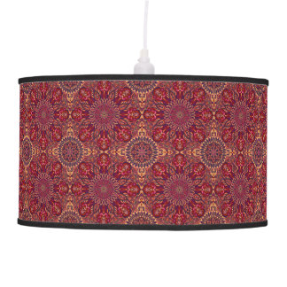 Colorful abstract ethnic floral mandala pattern de pendant lamp