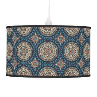 Colorful abstract ethnic floral mandala pattern de pendant lamp