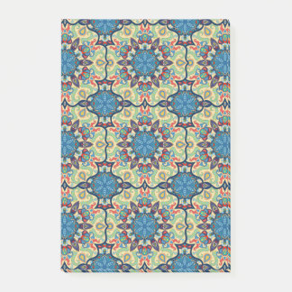 Colorful abstract ethnic floral mandala pattern de post-it notes