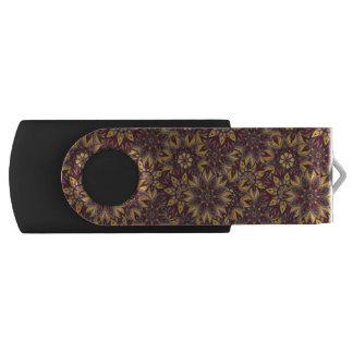 Colorful abstract ethnic floral mandala pattern de swivel USB 2.0 flash drive