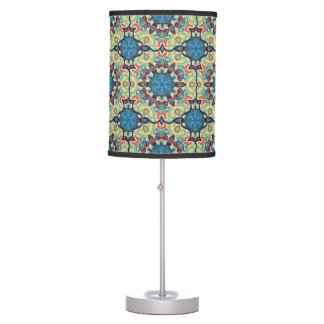 Colorful abstract ethnic floral mandala pattern de table lamp