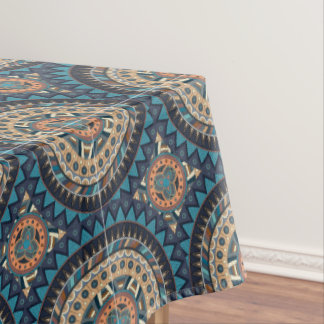 Colorful abstract ethnic floral mandala pattern de tablecloth