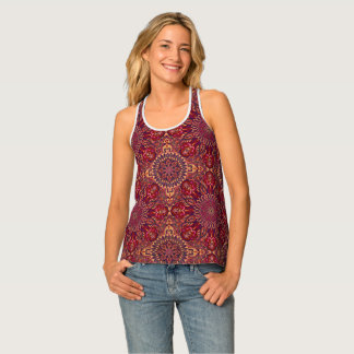 Colorful abstract ethnic floral mandala pattern de tank top