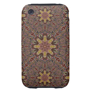 Colorful abstract ethnic floral mandala pattern de tough iPhone 3 covers