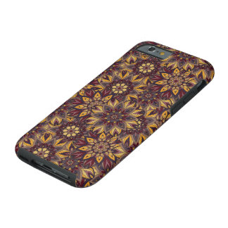 Colorful abstract ethnic floral mandala pattern de tough iPhone 6 case