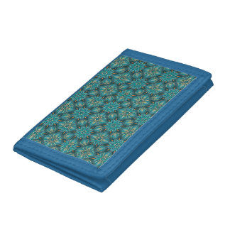 Colorful abstract ethnic floral mandala pattern de tri-fold wallets