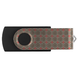 Colorful abstract ethnic floral mandala pattern de USB flash drive