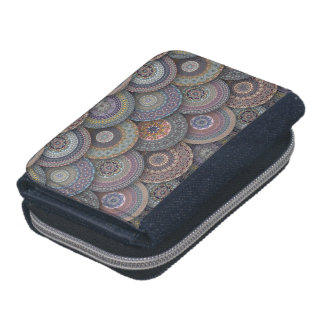 Colorful abstract ethnic floral mandala pattern de wallet
