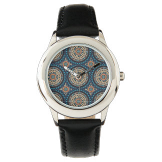 Colorful abstract ethnic floral mandala pattern de watch