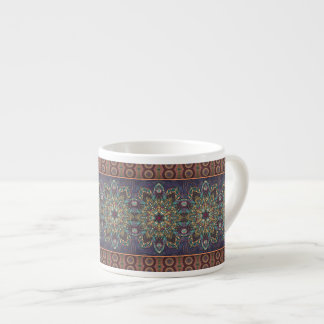 Colorful abstract ethnic floral mandala pattern espresso cup