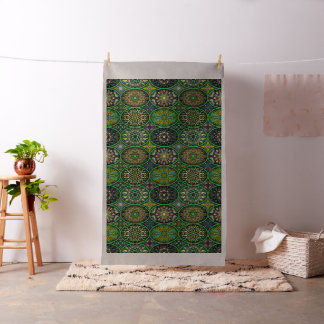Colorful abstract ethnic floral mandala pattern fabric