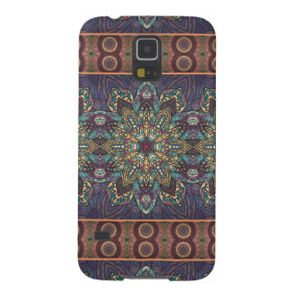 Colorful abstract ethnic floral mandala pattern galaxy s5 covers