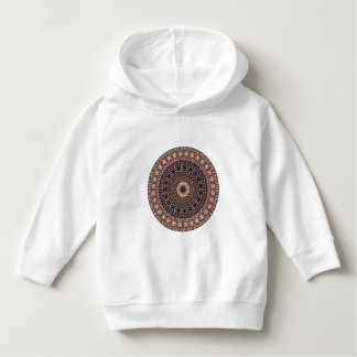 Colorful abstract ethnic floral mandala pattern hoodie