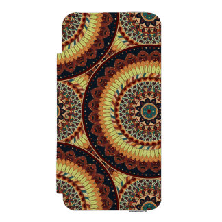 Colorful abstract ethnic floral mandala pattern incipio watson™ iPhone 5 wallet case