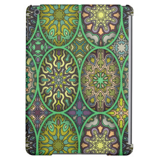 Colorful abstract ethnic floral mandala pattern iPad air cases